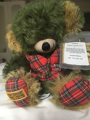 MERRYTHOUGHT cheeky Christmas bear 2012 limited edition