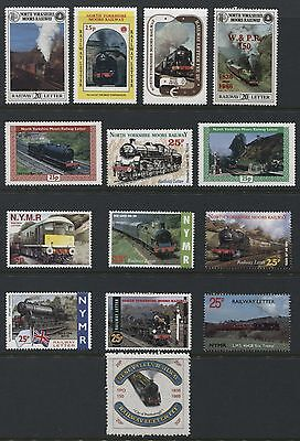 North Yorkshire Moors Railway - collection of 13  Railway stamps - AT281