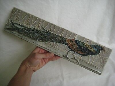 Antique PORCELEYNE FLES DELFT Holland Peacock Cloissone Tile
