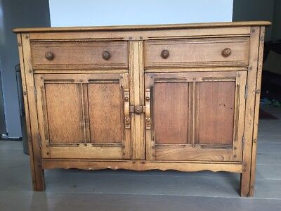 Wooden Sideboard, Cupboard, 20th Century, Antique