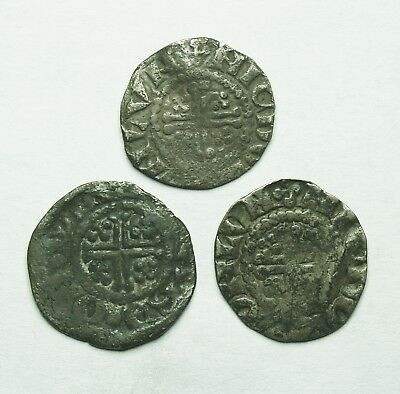 Interesting Selection Of Three Ar Short Cross Pennies (142Y)