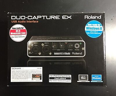 Scheda Audio Usb Duo-Capture Ex Roland - Compatibile Con Ipad