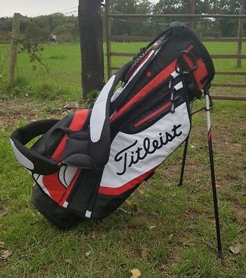 Titleist Bag Golf Carry Red, Black & White 4-Way  USED UK