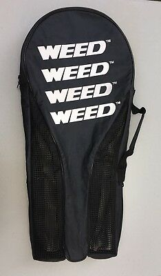 Black Weed Tennis Racquet Gear Bag Holds 2 Racquets & 2 cans of Balls