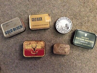 Collection of  6 vintage tobacco tins