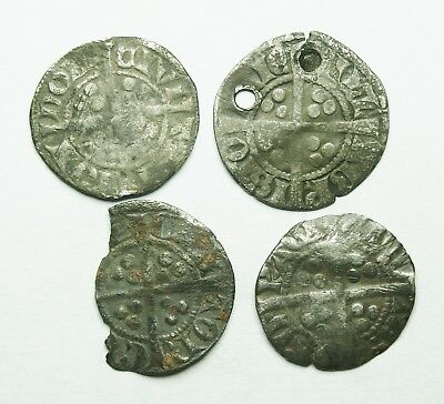 Interesting Selection Of Four Edward I Ar Pennies (146Y)