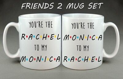 Friends Tv Show Mugs Gift Set - Christmas Birthday Best Friend Sister