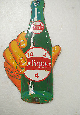 Porcelain Sign Dr Pepper 10X5.5 Inches  Approx