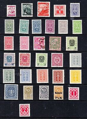Republik of Osterreich stamps - 32 MH & Used