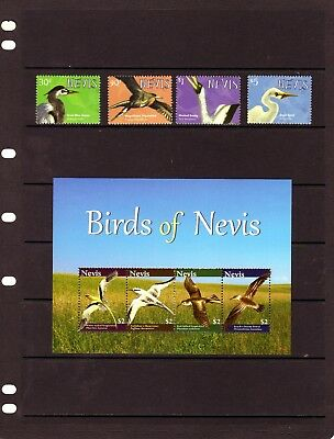 NEVIS 2001 Birds of Nevis set  & Mini Sheet Mtd. MINT
