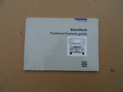 Vintage Iveco Eurotech MANUAL Technical features Manual