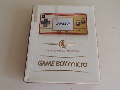 Gameboy BOX ONLY FOR SPECIAL 20th ANNIVERSARY EDITION GAMEBOY MICRO CONSOLE