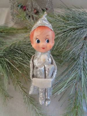 Vintage Christmas  Pixie Elf Knee Hugger Shiny Silver Japan