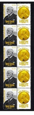 Rene Cassin Nobel Peace Prize Strip Of 10 Stamps 4