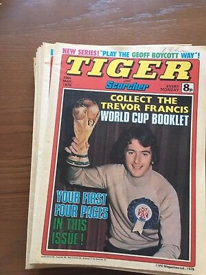 TIGER and scorcher comics 1978  16 issues