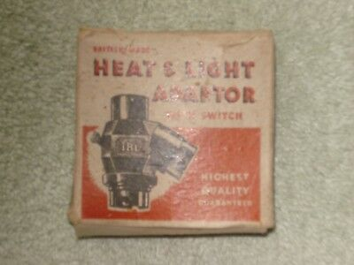 Vintage Boxed Heat And Light Adaptor With Switch