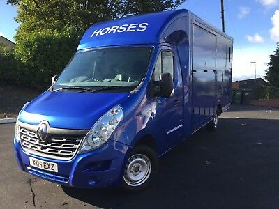 Bespoke Renault Master Horse Box 2015 3.5 Tonne New Conversion In Blue