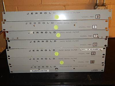 Lot Of 7 Jerrold Pass Band Filters Plus 1 Head End Filter Tf-300-He See Pics