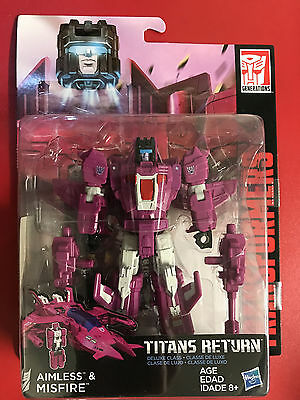 Transformers Titans Return Deluxe Misfire & Aimless NEW