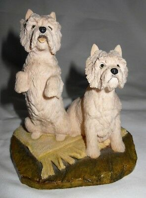 Border Fine Arts, The World of Dogs Figure, Pair of Westies DS13, Ray Ayres