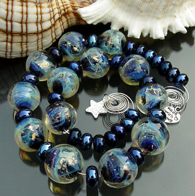 Lucky Town Art Glass *Galaxy* Handmade Lampwork Beads SRA