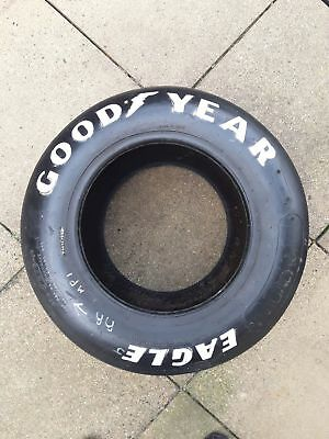 Goodyear Eagle 27.10.15 ASCAR racing tyre hand lettered & signed. V.Collectible.