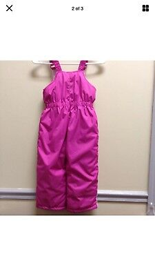 ZeroXposur Girls Snow Suit Size 4T  Pink Sleeveless Coveralls Zip Front