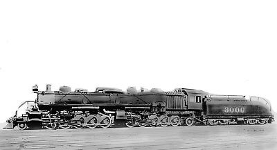 Santa Fe Steam Locomotive Photo 3000 2-10-10-2 Articulated ATSF railroad train