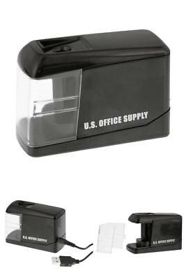 Electric Pencil Sharpener Battery or USB Powered U.S. Office Supply Sharpen