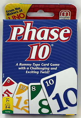 Phase 10 Card Game - A Rummy Type Game With A Twist