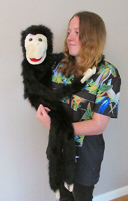 "Fab Large 39"" Monkey Ape Ventriloquist Hand Puppet Plush Toy - Adult Size"