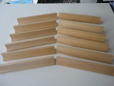 12 X Wooden Scrabble Tile Letter Holders Spares Replacements Craft Christmas