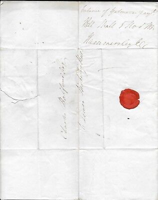 Pre-Stamp Cover with Letter, 1833