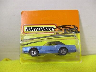 Matchbox Vintage Made In Bulgaria Blue / Black Lincoln Continental