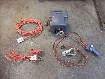 Electric Winch, Fits Trailer, Battery Or Mains, Portable, Ideal For Bikes/Boats