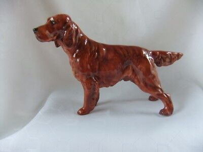 "Royal Doulton  Irish  Setter  Ch. ""pat O'moy""  Hn 1055  - 5"" High Withdrawn 1985"