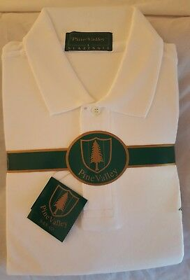 Pine Valley white golf shirt; new, still in pro shop bag; vintage golf