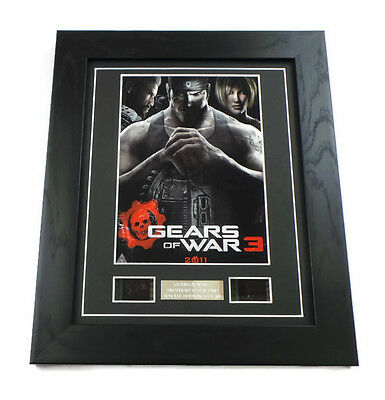 GEARS OF WAR 3 Video Game Memorabilia Rare 0riginal 35mm Film Cells Framed GIFTS