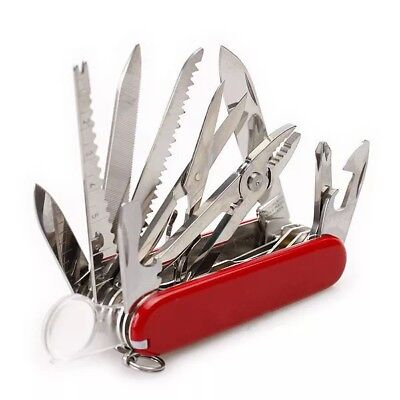 Red Folding Pocket Swiss Army Knife Swisschamp Military Survival Multi Tool