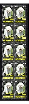 Bichon Frise P/breed Dogs Strip Of 10 Mint Stamps 5