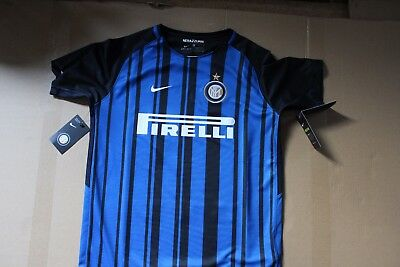 "Nike Dry Fit Inter Milan Serie ""a"" 2017/18 Season Kit - Brand New - Age 13"