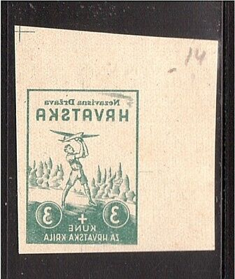 CROATIA WWII Wings negative proof from Ministerial Book 1942  (# 07)