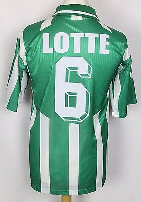 LOTTE #6 VINTAGE HUMMEL FOOTBALL SHIRT RARE MENS LARGE ORIGINAL 90's