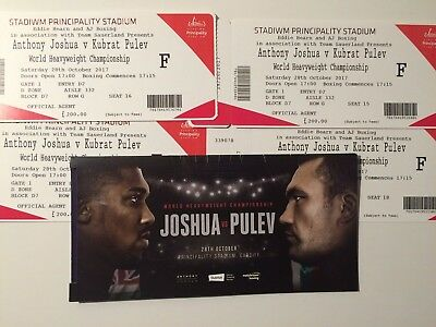 Anthony Joshua v Pulev(Takam) Below Face Value Tickets, Floor Seats