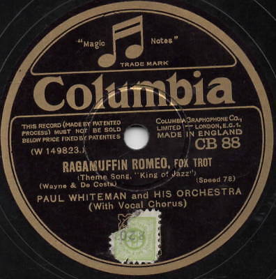 "78er Jazz Hot Dance 1930 Paul Whiteman ""Ragamuffin Romeo"""