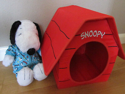 Fab Build-A-Bear Large Musical Snoopy Plush Soft Toy With Red Snoopy Kennel