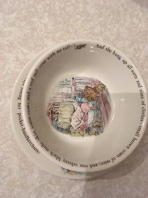 Mrs Tiggywinkle Bowl And Plate Wedgwood