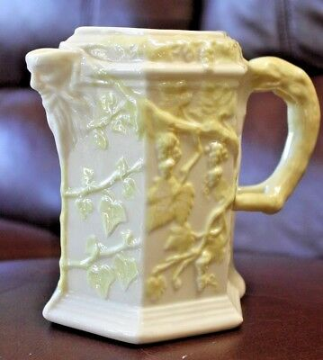 A Wonderful Irish Ireland Belleek Porcelain Lustre Jug Ivy Bacchus Head