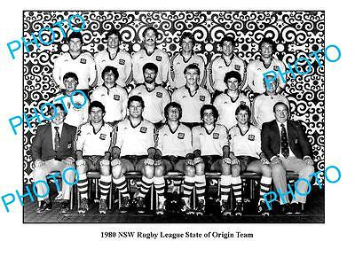 1980 Nsw State Of Origin Team Large A3 Photo