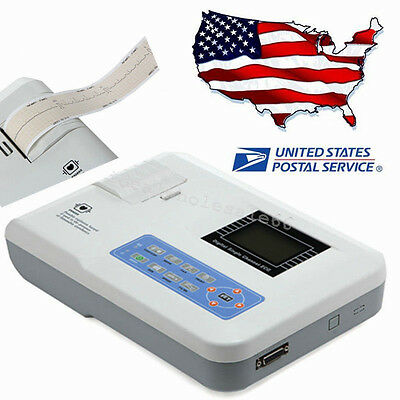 Single channel 12-leads Electrocardiograph ECG EKG System Contec + Software